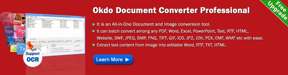 Okdo Document Converter - pdf to ppt,pdf to word,pdf to image,word