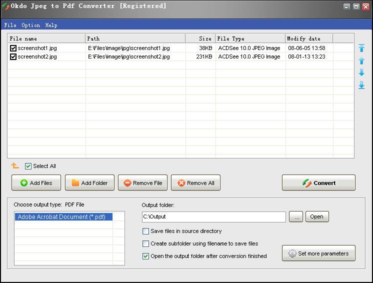 Okdo Jpeg to Pdf Converter 4.0