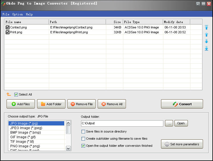 Okdo Png to Image Converter screenshot