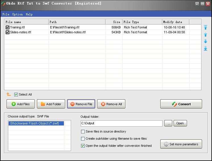 Free download Okdo Rtf Txt to Swf Converter