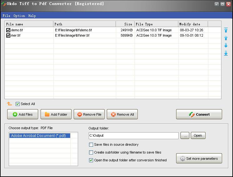 Okdo Tiff to Pdf Converter 3.9